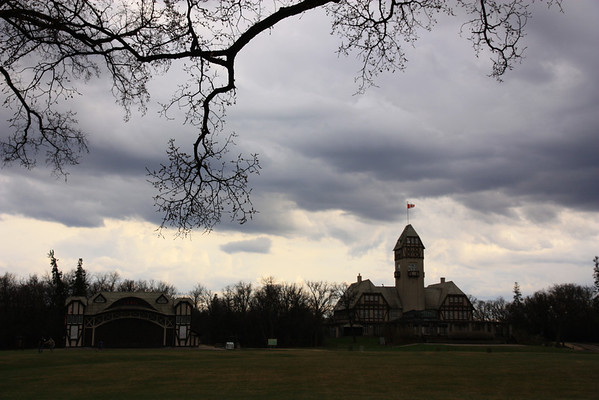Pavilion and Lyric Theatre Under Clouds