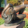 Reclining Girl In Tulips, Leo Mol Sculpture Garden
