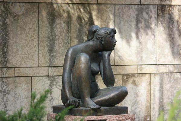 Pensive Girl, Leo Mol Sculpture Garden
