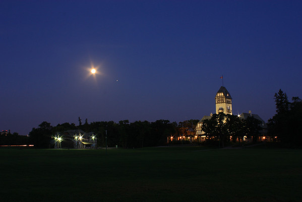 Pavilion and Lyric Theatre, Assiniboine Park, Clear Night