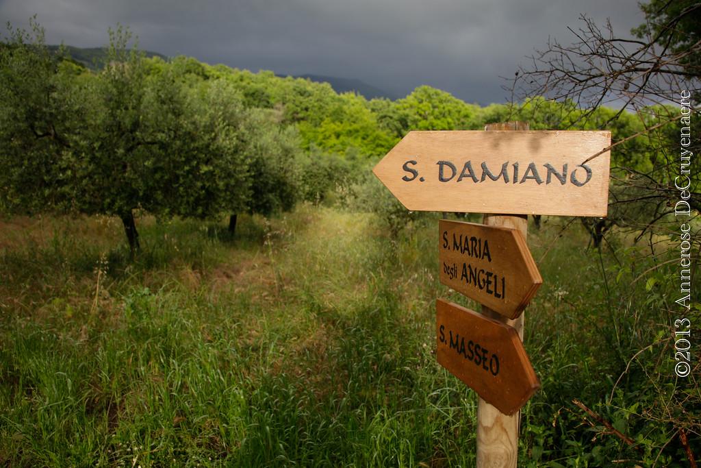 Weg nach San Damiano