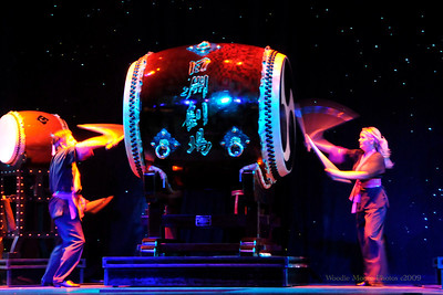 This is a Taiko drum that is used in the show.  For information go to: http://www.shoji.com/ and click on Taiko on the menu bar.