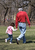 Uncle Carl & Megan on a walk at the zoo.