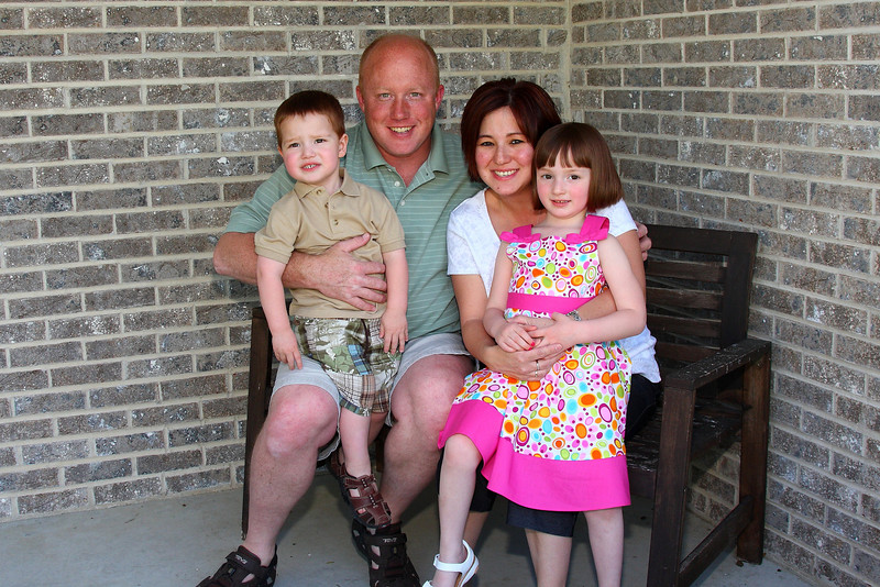 Family pic on the front porch.