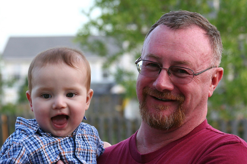 Uncle Mike & baby Ethan.