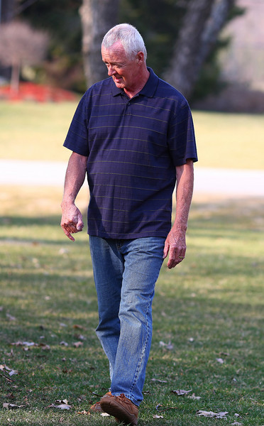 """""""Walking Tall"""" <br /> A candid shot of my dad in his back yard, March 09."""