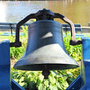 The Bell off the Steamship Mary Powell which ran the Hudson River until 1920.