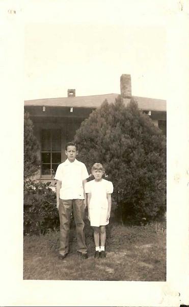 Bo and Carol - Bo (WO Jr) and his sister Carol