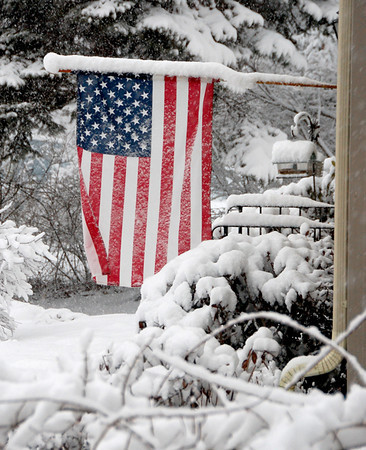 Old Glory in Winter