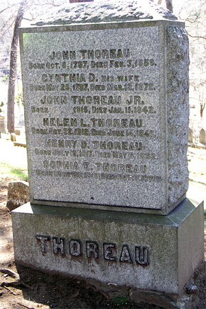 Henry D. Thoreau, Sleepy Hollow Cemetery, Author's Ridge, Concord, MA