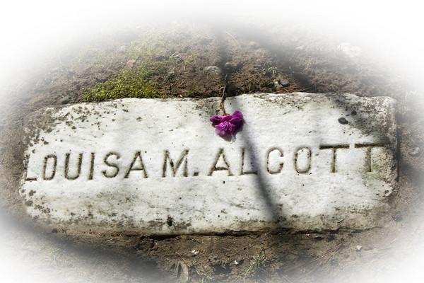 Louisa M. Alcott, Sleepy Hollow Cemetery, Author's Ridge, Concord, MA