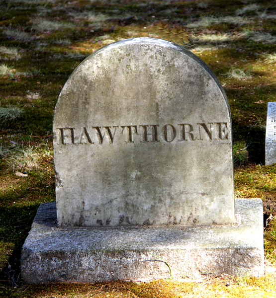 HAWTHORNE, Sleepy Hollow Cemetery, Author's Ridge, Concord, MA