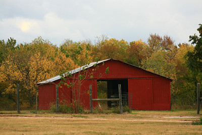 Small outlying barn, Samuel Farm Park, Sunnyvale, Tx.