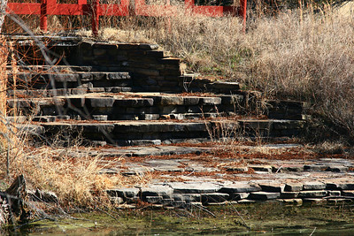 Pond steps at Samual Farms Park, Sunnyvale, Texas