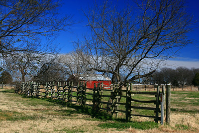 Fenceline at Samual Farms Park, Sunnyvale, Texas