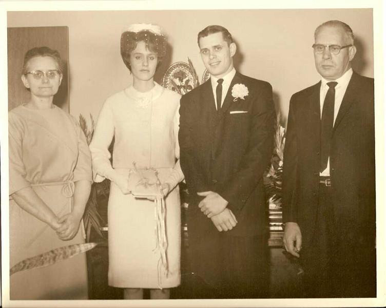 Wedding Day - Stella, Jane, Don, and Cecil Emery