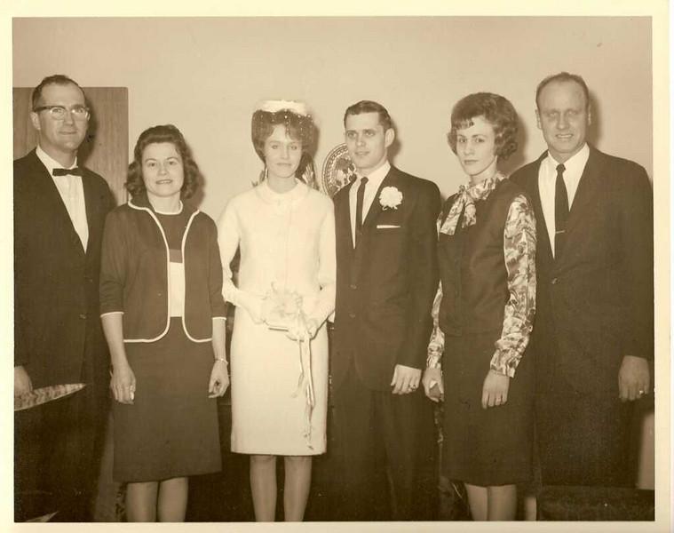 Wedding Day - Jake, Cricket, Jane, Don, Sue, and Calvin. (Cricket, Sue, and Calvin are Jane\'s siblings).