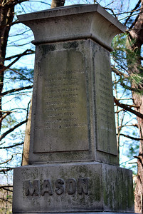 The Mason Monument in the Founders' Cemetery on Lee Avenue.