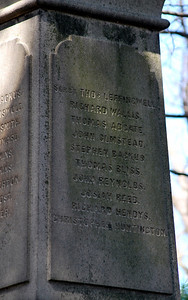 Inscriptions on the Mason Monument in the Founders' Cemetery on Lee Avenue.