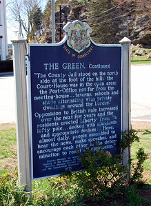State of Connecticut Sign on the Norwichtown Green (back)
