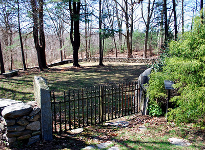 Founders Cemetery at the dead-end on Lee Avenue