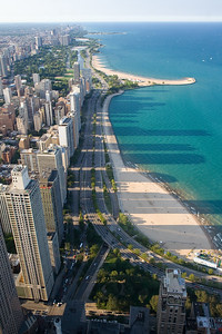 Chicago Beach from Hancock Observatory - Chicago, IL