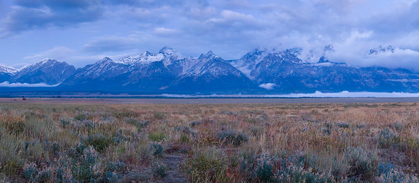 Sunrise Panorama - Grand Tetons National Park, WY