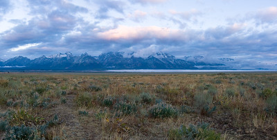 Morning Glow Panorama - Grand Tetons National Park, WY
