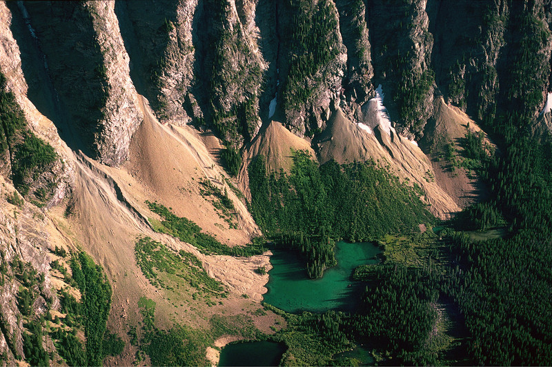 Aerial photo of mountains in Montana.