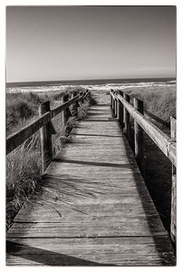 Boardwalk to the Pacific Ocean