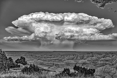 Micro storm Clouds over badlands NP