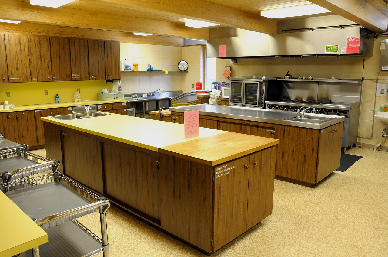 View of ABVM kitchen from the parish hall.