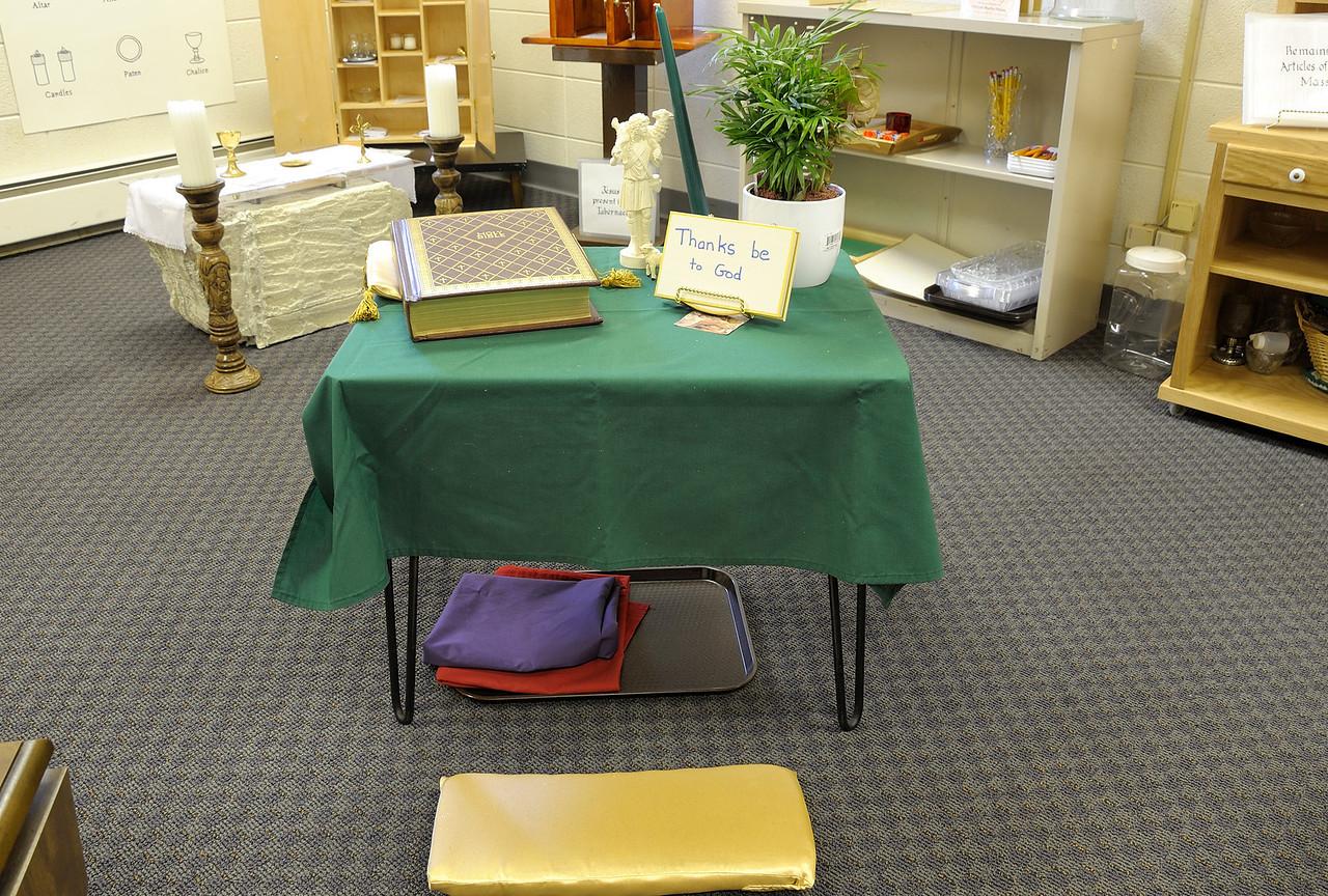 Prayer table.
