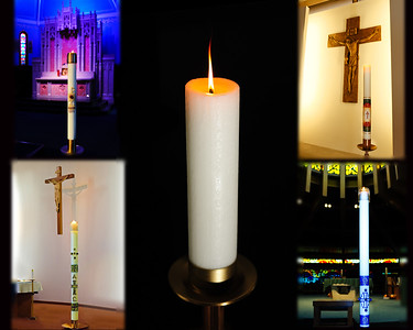 four candles and unity v2 blurred 16 x 20