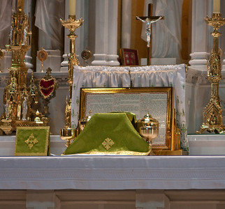 Sanctuary Prepped for Mass