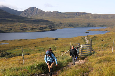 Monday 21 August - starting up Stac Pollaidh