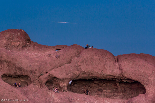 2014 Valentine's Day Full Moon Rise - Hole-in-the-Rock, Papago Park, Phoenix AZ