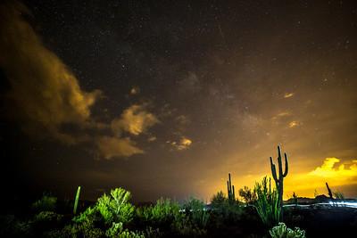 Night mountain bike ride at McDowell Mountain Park, AZ