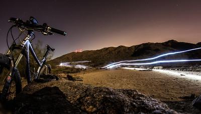 Full moon night ride at South Mountain, Phoenix, AZ.