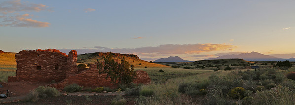 First pic from a great evening.... Sunset Crater and San Francisco Peaks in the background. 5DM3, 24mm, ISO500, in-camera HDR about 1/200th.