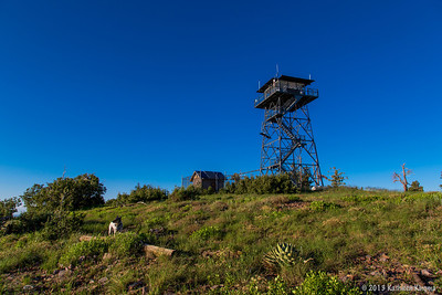 Holly and the Aztec fire tower.