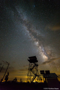 Milky Way over the Aztec fire tower.