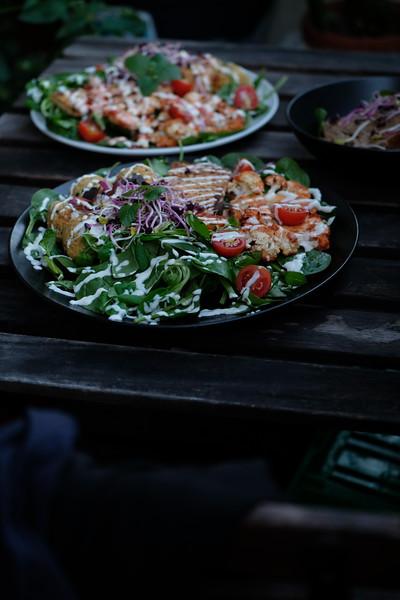 Loaded falaffel salad