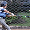 ROBERT GURECKI   -   Digital First Media<br /> Aston Middletown's Roman Tozzi hits a home run for his team against Taney in the second round of the Little League playoffs at Aston Middletown's field.