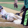 ROBERT GURECKI   -   Digital First Media.<br /> Newtown-Edgmont Matt Abate slides into third safely in the District 19 Little League winner's bracket game Aston Middletown, Wednesday July 7..