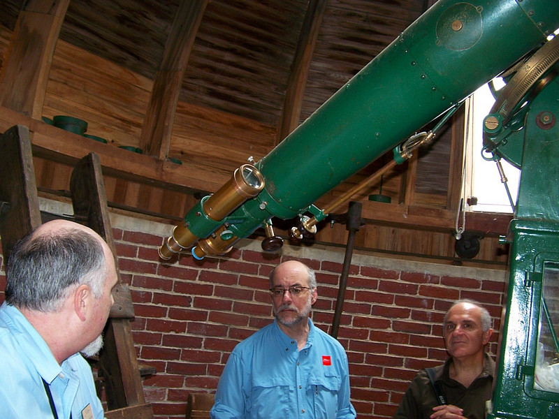 Doug Harrigan gives a tour of the observatory.