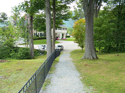 Walkway down to the mansion.