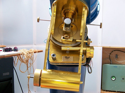 """This instrument features the """"Porter"""" or """"Springfield"""" Mount. This is essentially a telescope that moves about the eyepiece which is stationary.  The advantages  are clear for people who have limited access to  the telescope.  You can remain in a wheel chair and observe  from what is basically part of a declination shaft!!"""