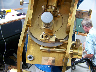 Another close-up of the unusual Springfield telescope.