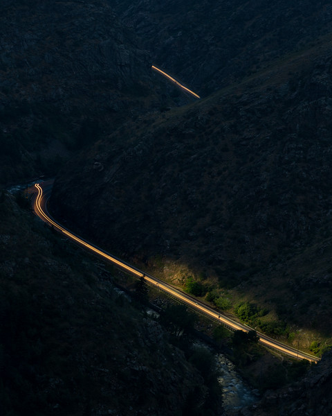 Frankieboy Photography |  Lit Road Path | Lookout Mountain Colorado